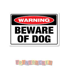 Warning beware of dog sticker 150mm quality water & fade proof vinyl safety