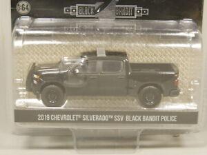 Greenlight 1:64 Black Bandit Police 2019 Chevrolet Silverado SSV Diecast model