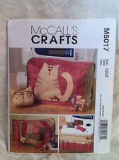 McCall's Crafts Cynthia Rose  Pattern UNCUT M5017 Sewing Machine Cover Cat New