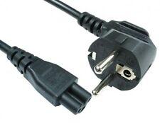 European EU Laptop Power Lead / Cable, 2-pin Shuko plug to C5 Clover-leaf, 1.8M