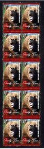 GRIZZLY BEAR STRIP OF 10 MINT E/S VIGNETTE STAMPS 5