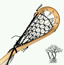 New Wooden Lacrosse Stick Box model Black leathers