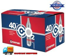 Crosman 12g Genuine POWERLET CO2 Cartridges Forty Pack 40 Count, FREE SHIPPING !