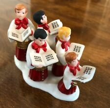"""Heritage Village Collection """"Choir Boys All in a Row"""" Porcelain"""