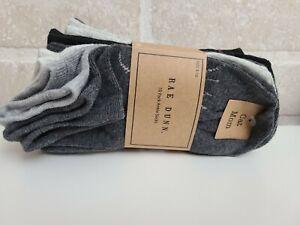 Rae Dunn Cat Mom Women Size 5-10 Ankle Socks 10 Pack Meow Black Grey