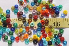 Mixed Fancy Saucer Glass Beads Mixed Color's Crafts Jewelry Making/ 1oz/RS62