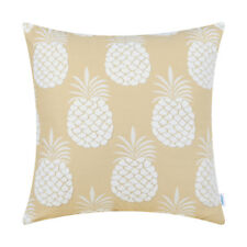 Throw Cushion Covers Pillows Shells Fluffy White Pineapple Fruit Decor 45 x 45cm