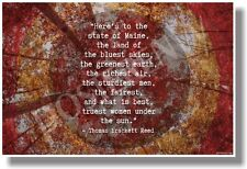 Here's To The State Of Maine... - Thomas Brackett Reed  - NEW Travel POSTER