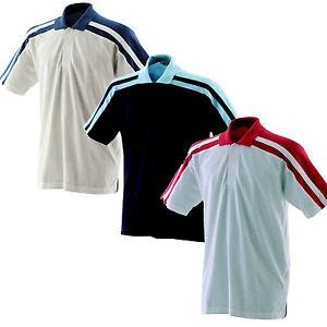 Finden & Hales 100% Cotton Polo Neck Short Sleeve Shirt Top