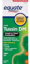 Lot of 6 Equate - Tussin DM - Cough Suppressant/Expectorant Syrup, 4 oz Each