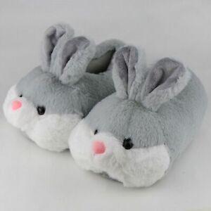 Women Animal Slippers Girls Rabbit Home Shoes Non Slip Flat Slipper Short Plush