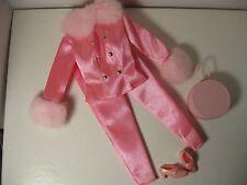 Barbie Doll & Friends~Bright Pink Shoes~2 Piece Pant Suit~Faux Fur Color & Cuff