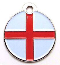 ~ St George's England Flag Small pet id tags