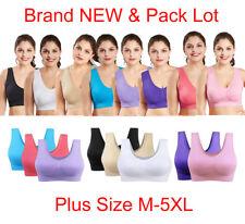 Women Ladies Comfortable Wire FREE Bra Sports GYM Underwear Plus Size Breathable