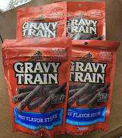 4 X Gravy Train Beef Flavor Sticks Dog Treats 3 Oz. Made In USA. Real Beef 🥩