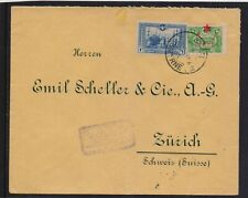 TURKEY OTTOMAN 1916 CENSORED MAILED COVER TO SWITZERLAND