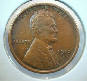 1912-D USA Lincoln Wheat Cent in AU Condition  (463)