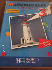 Mathématiques collection Phare, compléments pédagogiques 3e/ Hachette