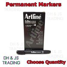 Black Permanent Marker Pens - Artline Supreme Bullet Tip Permanent Markers