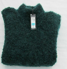 Ladies Marks and Spencer Autograph Peacock Wool Blend Sleeveless Jumper Size 14