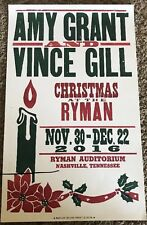 AMY GRANT VINCE GILL HATCH SHOW PRINT CHRISTMAS AT THE RYMAN  2016 POSTER