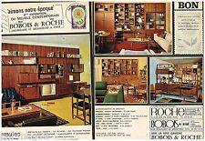 A- Publicité Advertising 1965 (2 pages) Meubles  Mobilier Roche Bobois