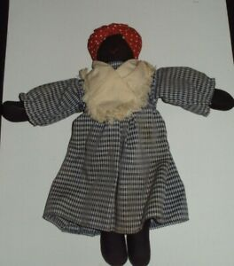 Black Americana Primitive Folk Art Cloth Rag Doll