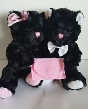 "Applause Boy and Girl Black Kitten 9"" Plush Stuffed Toy"