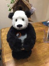 "New Gorgeous Handmade Artist Panda Bear by Sharon Queen,12"" Tall ""China Panda"""