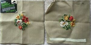 Flowers Bucilla Decorator Imported Hand Embroidered Needlepoint Canvas-2 30819**
