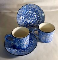 2 Stangl Blue Town And Country Cups And Saucers