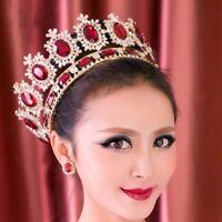 Europe Queen Full Crystal Tiaras Wedding Bridal Hair Accessories Circle Crown