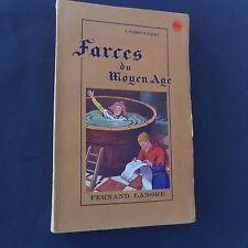 Farces du Moyen Age de L Robert Busquet dessins P Rousseau