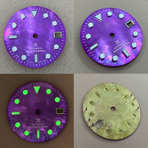 29MM Green Luminous Watch Dial Modified Parts for NH35/NH36 Mechanical Movement