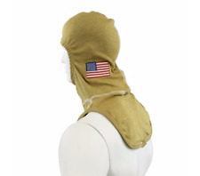 American Flag Embroidered Majestic Firefighter PBI Gold Flash Hood