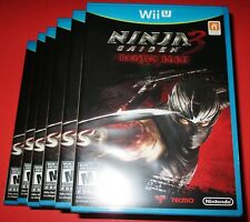 Lot of 6 Ninja Gaiden 3: Razor's Edge Nintendo Wii U *Factory Sealed!-Free Ship!