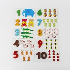 Colourful Educational Multi-Learning Number Matching Animals Wooden Flashcards
