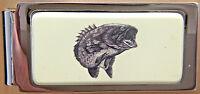 Money Clip Barlow Scrimshaw Photo Reproduction Bass Fish Fishing Hinged 526305 n