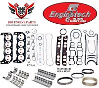 ENGINETECH CHEVY BBC 454 RE RING REBUILD KIT WITH MAIN BEARINGS 1996 - 2000