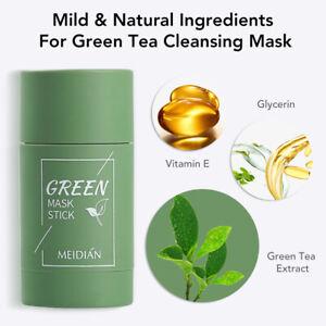 Green Tea Face Mask Eggplant Clearing Acne Beauty Skin Moisturizing Oil Control
