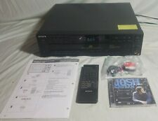 5 Disc CD Player Changer Sony CDP-C67ES  Carousel Remote Tested & Working