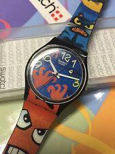 VINTAGE Swatch GENT GB230 Bizar World  2006 New In Box Kids Artist