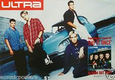 "ULTRA ""SAY IT ONCE"" AUSTRALIAN 1998 PROMO POSTER - English Boyband, Pop Music"