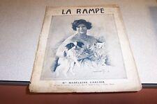 REVUE LA RAMPE N° 242 Mlle MADELEINE CARLIER 09 07 1921