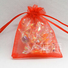 100 LUXURY ORGANZA XMAS WEDDING FAVOUR CHRISTMAS BAGS JEWELLRY POUCHES 18 COLORS