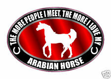 THE MORE I LOVE MY ARABIAN HORSE STICKER