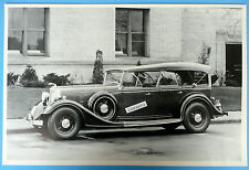 """12 By 18"""" Black & White Picture 1934 Lincoln Duvan Col Phaeton Top Up"""