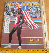 Track and Field News Jan 1985 Carl Lewis cover Adidas Shoes ad