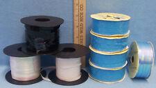 Lot of 8 Curling Ribbon Gift Tye Ribbon Blue White Black