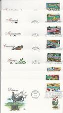 # 3561-3610 GREETINGS FROM AMERICA 2002, BIRDS & FLOWERS 1982  FLEETWOOD FDC's